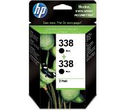 HP 338 zwart HC 2 x 11ml 2 x 2-pack multi tag CB331EE#301