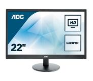 "AOC Value-line E2270SWHN LED display 54,6 cm (21.5"") Full HD Flat Mat Zwart"