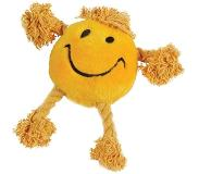 Happy pet Happy Faces Pluche Smiley - Geel - 29 x 26 x 8 cm