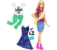 Barbie Fashionistas Peace & Love - Barbiepop met 3 Outfits