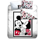 Disney Mickey Mouse Minnie Mouse Kiss Mickey Mouse dekbedovertrek