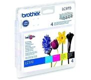 Brother LC970VALBP Original black, Cyaan, magenta, Geel Multipack