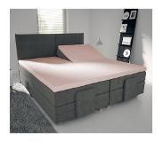 Nightlife Jersey Splittopper - Hoeslaken Roze 160 x 220 + 15 cm