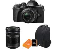 Olympus OM-D E-M10 Mark III systeemcamera Zwart Travel Bag Kit