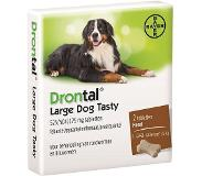 Drontal Ontworming Large -35 kg Dog Flavour - 2 Tabl
