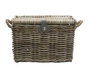 New Looxs Melbourne Voorkant Bicycle basket 45l Rotan Grijs