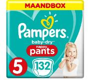 Pampers Baby-Dry Pants S5 132 Luierbroekjes Luchtdoorlatende Banen Maandbox