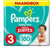 Pampers Baby-Dry Pants S3 180 Luierbroekjes Luchtdoorlatende Banen Maandbox
