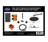 Best design One Pack inbouw regendoucheset Lacora Nero M 300 mat zwart 4006490