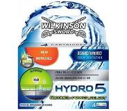 Wilkinson 10x Wilkinson Men Scheermesjes Hydro 5 Power 4 stuks
