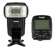 Rollei 56F Pro Flash Unit + Pro Radio Transmitter 2.4G for Canon E-TTL, Nikon i-TTL