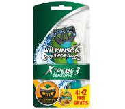 Wilkinson Sword Xtreme 3 Sensitive - 6 stuks - Scheermesjes
