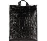 Myomy Paper Bag Back Bag Medium croco black
