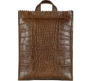 Myomy Paper Bag Back Bag Medium croco original