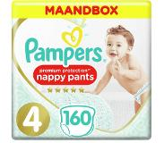 Pampers Premium Protection Pants Maat 4, 160 Luierbroekjes, Maandbox