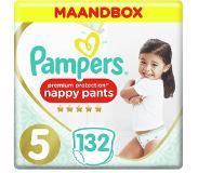Pampers Premium Protection Pants S5, 132 Luierbroekjes, Zacht, 1 Maandbox