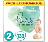 Pampers Pure Protection Maat 2, 132 Luiers, 4-8kg