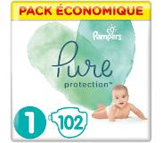 Pampers Pure Protection Maat 1, 102 Luiers, 2-5kg