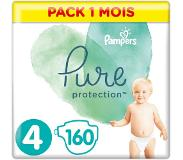 Pampers Pure Protection Maat 4, 160 Luiers, 9-14kg