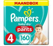 Pampers Baby-Dry Pants S4 160 Luierbroekjes Luchtdoorlatende Banen Maandbox