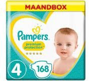 Pampers Premium Protection Maat 4, 9-14 kg, 168 Luiers, Maandbox