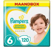Pampers Premium Protection Maat 6, 13+ kg, 120 Luiers, Maandbox
