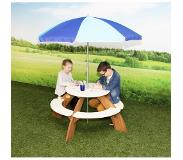 Axi Picknicktafel rond Orion met parasol