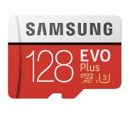 Samsung microSDXC Evo+ 128GB 100MB/s CL 10 + SD adapter