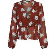 Missguided Blouse 'Floral Plunge'