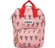 Zebra trends Lobster rugzak S pink
