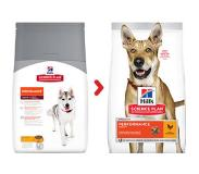 Hill's Pet Nutrition Adult Performance Kip hondenvoer 2 x 12 kg