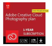 Adobe Creative Cloud Photography Plan 1TB cloudopslag 1 gebruiker - 1 jaar - (Windows/Mac) - NL