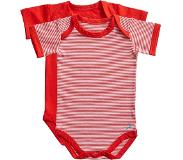 Ten Cate romper Stripe and flame scarlet 2 pack maat 74/80