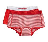 Ten Cate shorts Stripe and flame scarlet 2 pack maat 122/128