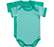 Ten Cate romper Stripe and mint 2 pack maat 74/80