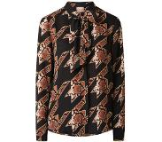 Scotch & Soda Blouse met dessin en strikkraag