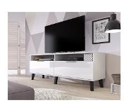 Meubella TV-Meuvel Sandy - Wit - 160 cm