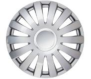 Car Plus wieldoppen Fontana 15 inch ABS zilver set van 4