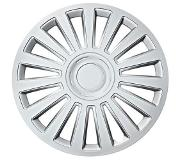 Car Plus Wieldoppen California 14 Inch Abs Zilver Set Van 4