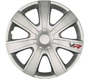 Car Plus Wieldoppen Vr 14 Inch Abs Zilver Set Van 4