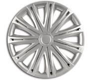 Car Plus Wieldoppen Alabama 15 Inch Abs Zilver Set Van 4