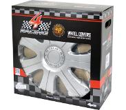 Carpoint wieldoppen Racing 14 inch ABS zilver set van 4