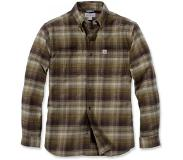 Carhartt Blouse Carhartt Men L/S Rugged Flex Hamilton Plaid Fir Green-L