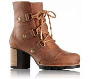 Sorel Women Addington Lace Elk Fossil-Schoenmaat 37 (UK 4)