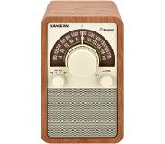 Sangean WFR-15 BT, retro radio, BT, walnoot