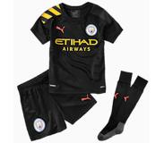 Puma Man City Kids' Away Replica Mini Kit, Zwart/Roze, Maat 92 | PUMA