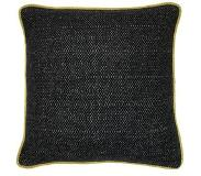 Malagoon Crow Black Recycled Wool Kussen 50 x 50 cm