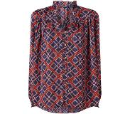 Scotch & Soda Semi-transparante blouse met V-hals en ruches