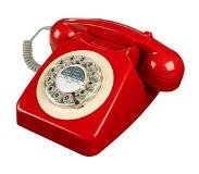 Wild & Wolf 746 Retro Telefoon Box Red