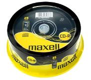 Maxell CD-R 80 52X speed Spindle 25 stuks